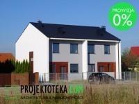 Dom jednorodzinny w zabudowie bliźniaczej w Gruszczynie k. Swarzędza w atrakcyjnej lokalizacji,  niedaleko przepięknych terenów rozlewisk Cybiny, objętych programem Natura 2000!